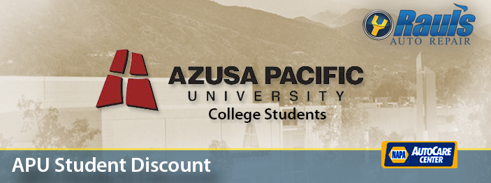 apu- student auto mechanic discount